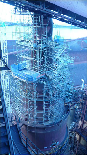 Large Industrial Scaffolding Project